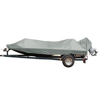 Carver Performance Poly-Guard Styled-to-Fit Boat Cover f/15.5' Jon Style Bass Boats - Grey