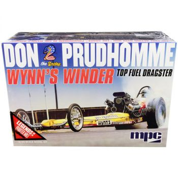 Skill 2 Model Kit Don Snake Prudhomme Wynn\'s Winder TFD Top Fuel Dragster Legends of the Quarter Mile 1/25 Scale Model by MPC MPC921