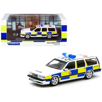 Volvo 850 Estate RHD (Right Hand Drive) GMP Greater Manchester Police (United Kingdom) Police Car 1/64 Diecast Model Car by Tarmac Works T64-039-PC