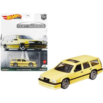 Volvo 850 Estate RHD (Right Hand Drive) with Sunroof Light Yellow Fast Wagons Series Diecast Model Car by Hot Wheels GRJ67