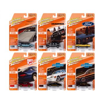 Classic Gold Collection 2021 Set A of 6 Cars Release 1 Limited Edition to 3000 pieces Worldwide 1/64 Diecast Model Cars by Johnny Lightning JLCG024A