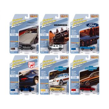 Classic Gold Collection 2021 Set B of 6 Cars Release 1 Limited Edition to 3000 pieces Worldwide 1/64 Diecast Model Cars by Johnny Lightning JLCG024B