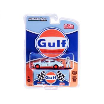 2021 Ford Mustang Mach 1 #8 Gulf Oil and Driver Figurine Limited Edition to 3300 pieces Worldwide 1/64 Diecast Model Car by Greenlight 51377