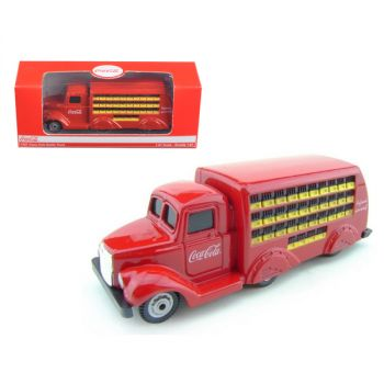 1937 Coca Cola Delivery Bottle Truck 1:87 HO Scale Diecast Model by Motorcity Classics 424132