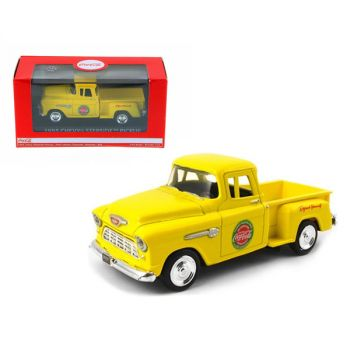 1955 Chevrolet Stepside Pickup Truck Coca-Cola Yellow 1/43 Diecast Model Car by Motorcity Classics 430001