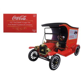 1917 Ford Model T Cargo Van Coca-Cola Red 1/18 Diecast Model Car by Motorcity Classics 449804