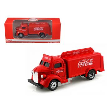 1947 Coca Cola Delivery Bottle Truck Red 1/87 Diecast Model by Motorcity Classics MCC440537