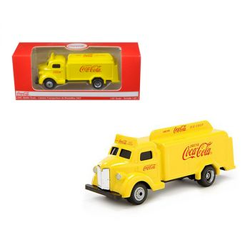 1947 Coca Cola Delivery Bottle Truck Yellow 1/87 Diecast Model by Motorcity Classics MCC439954