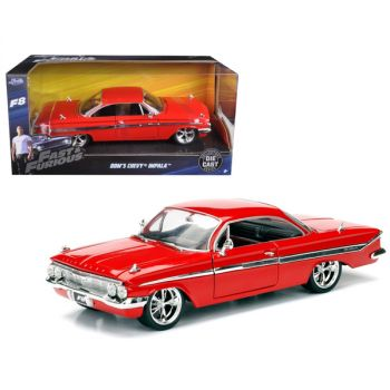 Dom\'s Chevrolet Impala Red Fast & Furious F8: The Fate of the Furious Movie 1/24 Diecast Model Car  by Jada 98426
