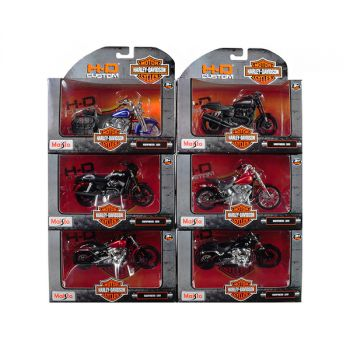 Harley Davidson Motorcycle 6 piece Set Series 35 1/18 Diecast Motorcycle Models by Maisto 31360-35