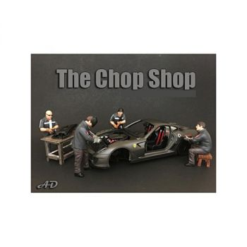 Chop Shop 4 piece Figurine Set for 1/24 Scale Models by American Diorama 38259-38260-38261-38262