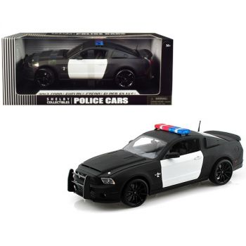 2012 Ford Shelby Mustang GT500 Super Snake Unmarked Police Car Black/White 1/18 Diecast Model Car by Shelby Collectibles SC462