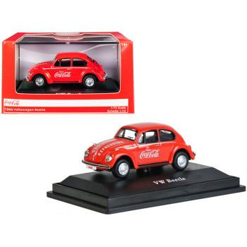 1966 Volkswagen Beetle Coca-Cola Red 1/72 Diecast Model Car by Motorcity Classics 472005