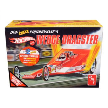 Skill 3 Model Kit Don Snake Prudhomme\'s Wedge Dragster Coca-Cola Hot Wheels Legends of the Quarter Mile 1/25 Scale Model by AMT AMT1049