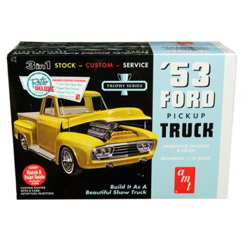 Skill 2 Model Kit 1953 Ford Pickup Truck Trophy Series 3 in 1 Kit 1/25 Scale Model by AMT AMT882