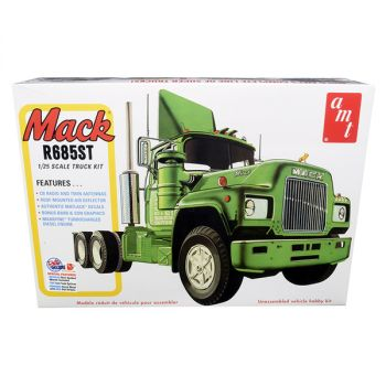 Skill 3 Model Kit Mack R685ST Semi Tractor Truck 1/25 Scale Model by AMT AMT1039