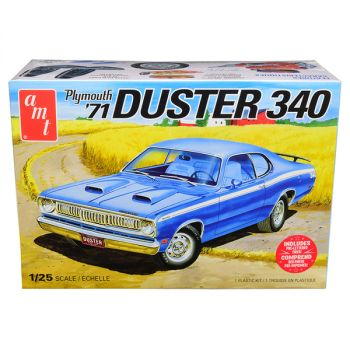 Skill 2 Model Kit 1971 Plymouth Duster 340 1/25 Scale Model by AMT AMT1118M