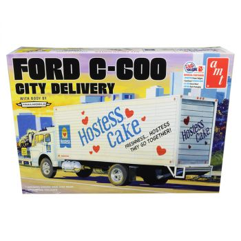 Skill 3 Model Kit Ford C-600 City Delivery Truck Hostess 1/25 Scale Model by AMT AMT1139