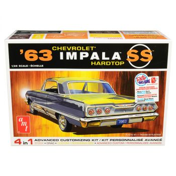 Skill 2 Model Kit 1963 Chevrolet Impala SS Hardtop 4 in 1 Kit 1/25 Scale Model by AMT AMT1149M