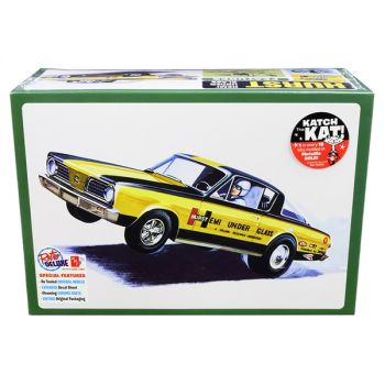 Skill 2 Model Kit 1966 Plymouth Barracuda Funny Car Hemi Under Glass 1/25 Scale Model by AMT AMT1153