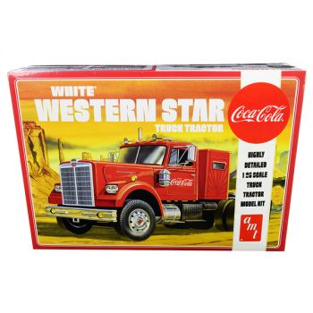 Skill 3 Model Kit White Western Star Semi Truck Tractor Coca-Cola 1/25 Scale Model by AMT AMT1160