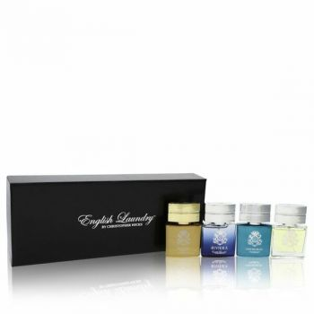 Notting Hill Gift Set - Gift Set Includes Notting Hill, Riviera, Oxford Bleu, And Arrogant, All In .68 Oz Mini Edp Sprays -- For Men