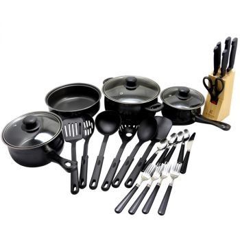 Gibson Home Total Kitchen 32 Piece Cookware Combo Set