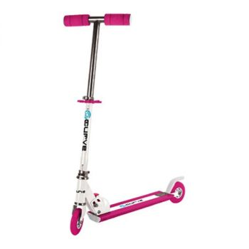 Curve Light Up Wheels Folding Scooter in Pink