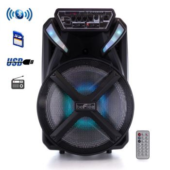 beFree Sound 12 Inch BT Portable Rechargeable Party Speaker