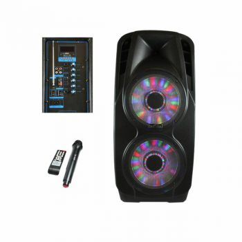 beFree Sound Double 12 Inch Subwoofer Portable Bluetooth Party PA Speaker
