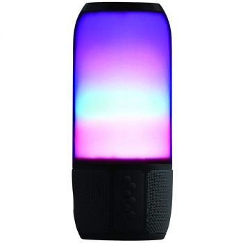 NAXA Electronics Vibe Series Bluetooth Speaker and MP3 Player with LED Flashing Lights in Black