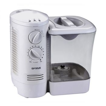 Optimus 2.5 Gallon Warm Mist Humidifier with Wicking Vapor System in White