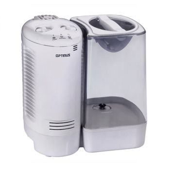 Optimus 3.0 Gallon Warm Mist Humidifier with Wicking Vapor System in White
