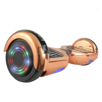 Hoverboard in Rose Gold Chrome with Bluetooth Speakers