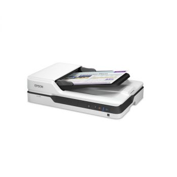 Epson DS-1630 Flatbed Color Document Scanner White B11B239201