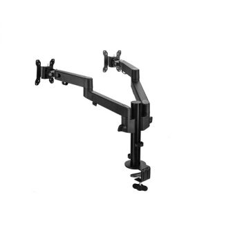 SIIG Articulating Dual Monitor Desk Mount Up To 30 Monitors Black CE-MT3E11-S1