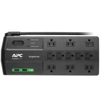 APC P11U2 11-Outlet SurgeArrest Surge Protector with 2 USB Charging Ports