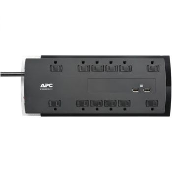 APC P12U2 12-Outlet SurgeArrest Performance Series Surge Protector with 2 USB Ports, 6ft Cord