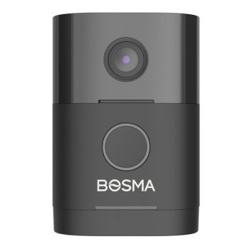 Bosma 851781007869 Sentry 1080p Full HD Outdoor Wi-Fi Smart Security Doorbell with PIR/LED Module