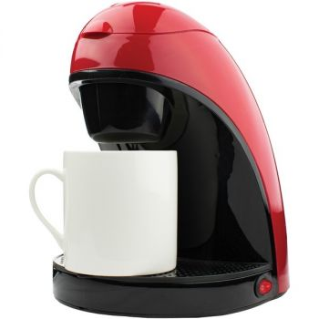 Brentwood Appliances TS-112R Single-Serve Coffee Maker with Mug (Red)