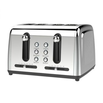 Brentwood Appliances TS-446S Extra Wide Slot 4-Slice Toaster