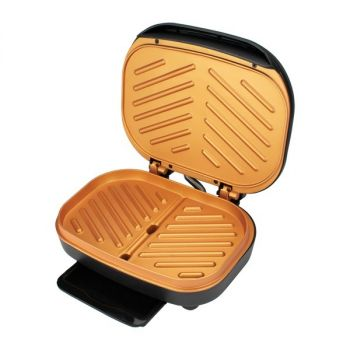 Brentwood Appliances TS-606BK 2-Serving Nonstick 750-Watt Indoor Electric Copper Grill and Panini Press