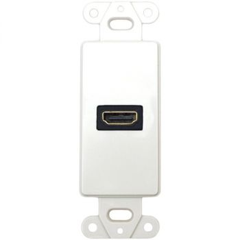 DATACOMM ELECTRONICS 20-4501-WH Decor Wall Plate Insert with 90deg HDMI Connector