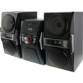 ILIVE IHB624B Bluetooth Home Music System with FM Tuner & LED Lights