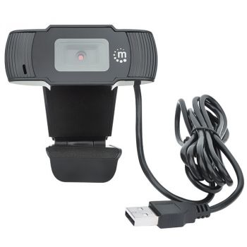 Manhattan 462006 1080p USB Webcam with Built-in Microphone