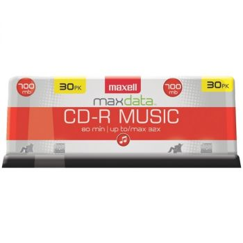MAXELL(R) 625335 80-Minute Music CD-Rs (30-ct Spindle)