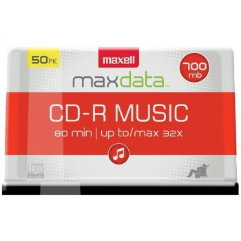 MAXELL(R) 625156 - CDR80MU50PK 80-Minute Music CD-Rs (50-ct Spindle)