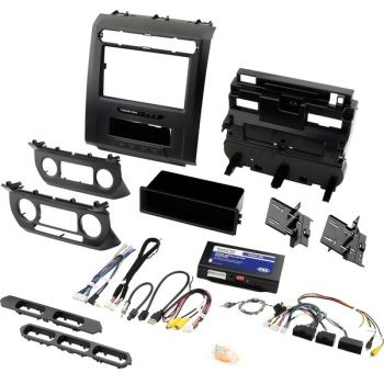 PAC RPK4-FD2101 RadioPro Radio Replacement Kit with Integrated Climate Controls for Select 2015 to 2020 Ford Trucks with 8-Inch Display