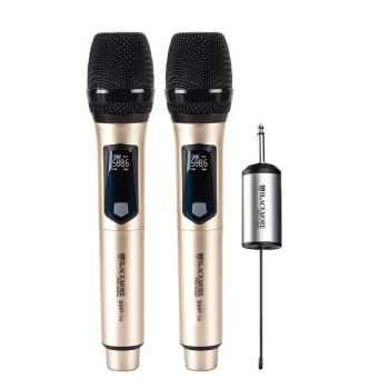 Blackmore Pro Audio BMP-14 BMP-14 Dual Handheld Rechargeable Wireless UHF Microphone System
