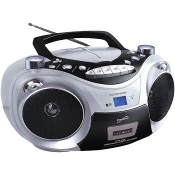 Supersonic SC-739BT SLV Portable Bluetooth Audio System (Silver)